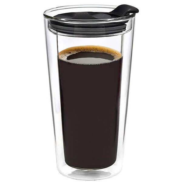 Godinger Glass Travel Coffee Mug