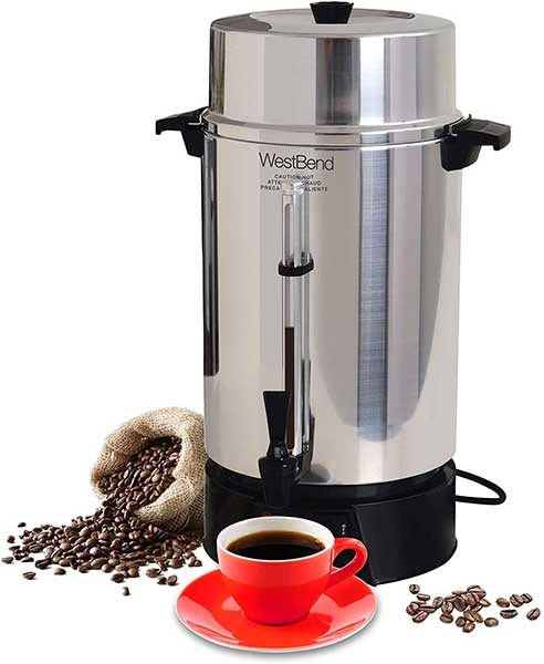 West Bend 33600 Aluminum Commercia Coffee Urn