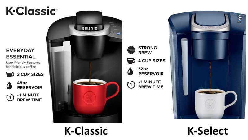 Keurig K-Classic VS K-Select
