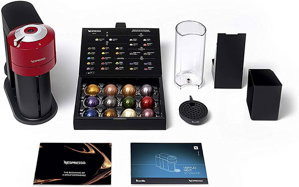 Specification of Nespresso Vertuo Next Coffee and Espresso Machine